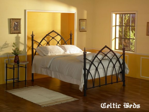 the wrought iron bed company celtic beds gothic bed - Cast Iron Bed Frame