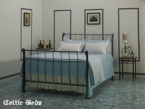 iron sleigh bed - Wrought Iron Bed Frames