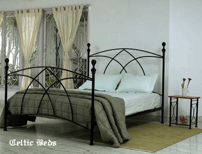 beds wrought iron avoca bed detail celtic